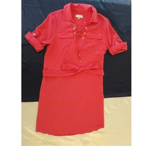 CALVIN KLEIN shirt dress size 8 hot pink